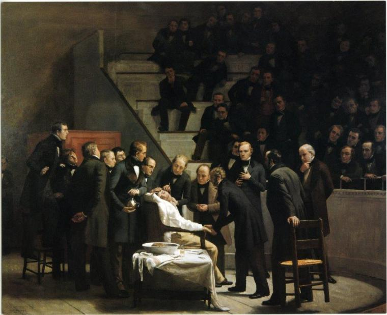 First-Operation-Under-Ether-painting